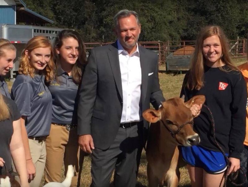 NC Lt. Gov with WRHS Ag Academy Students