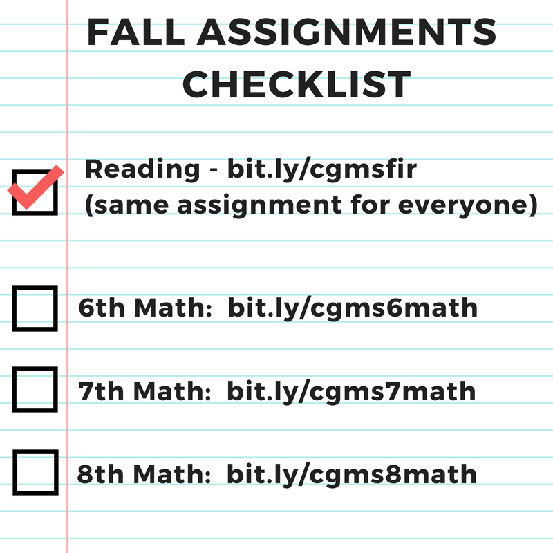 Fall Assignments