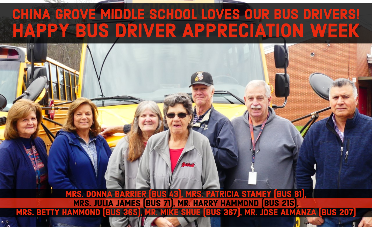 CGMS Loves Our Bus Drivers