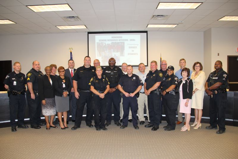 School Resource Officers - SROs - Honored