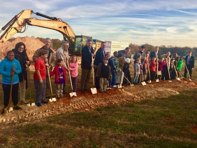 West Rowan Elementary Groundbreaking