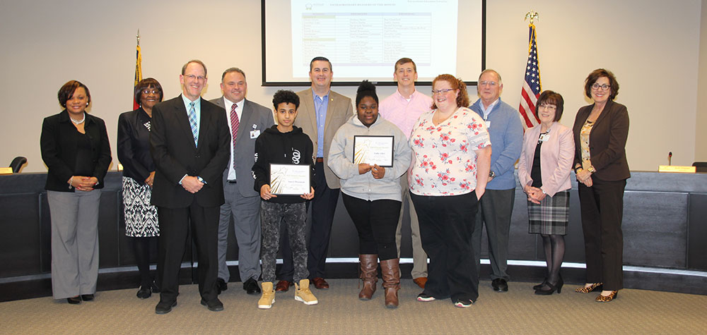 RSS District Readers of the Month with board of education