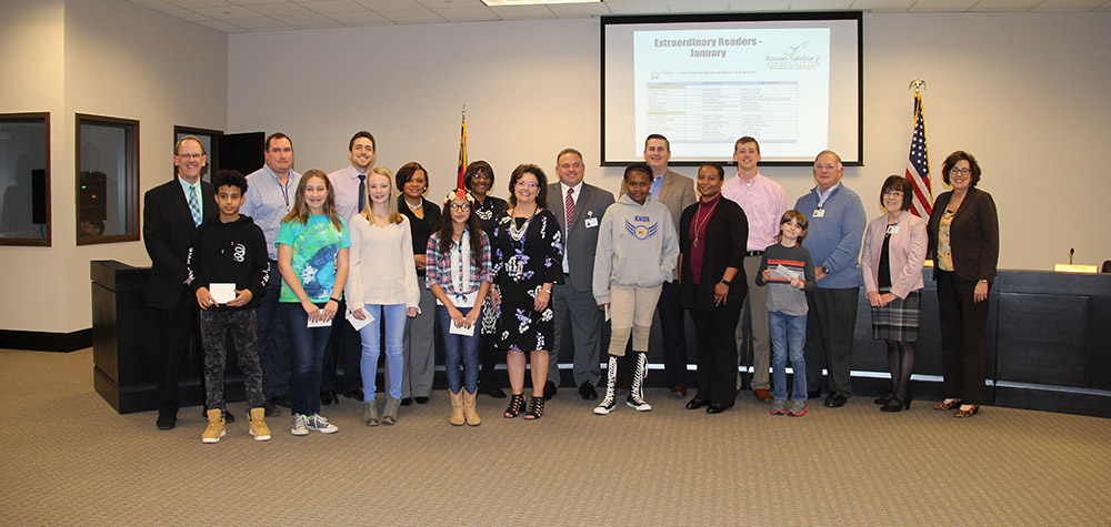 Extraordinary Readers from middle schools with board of education
