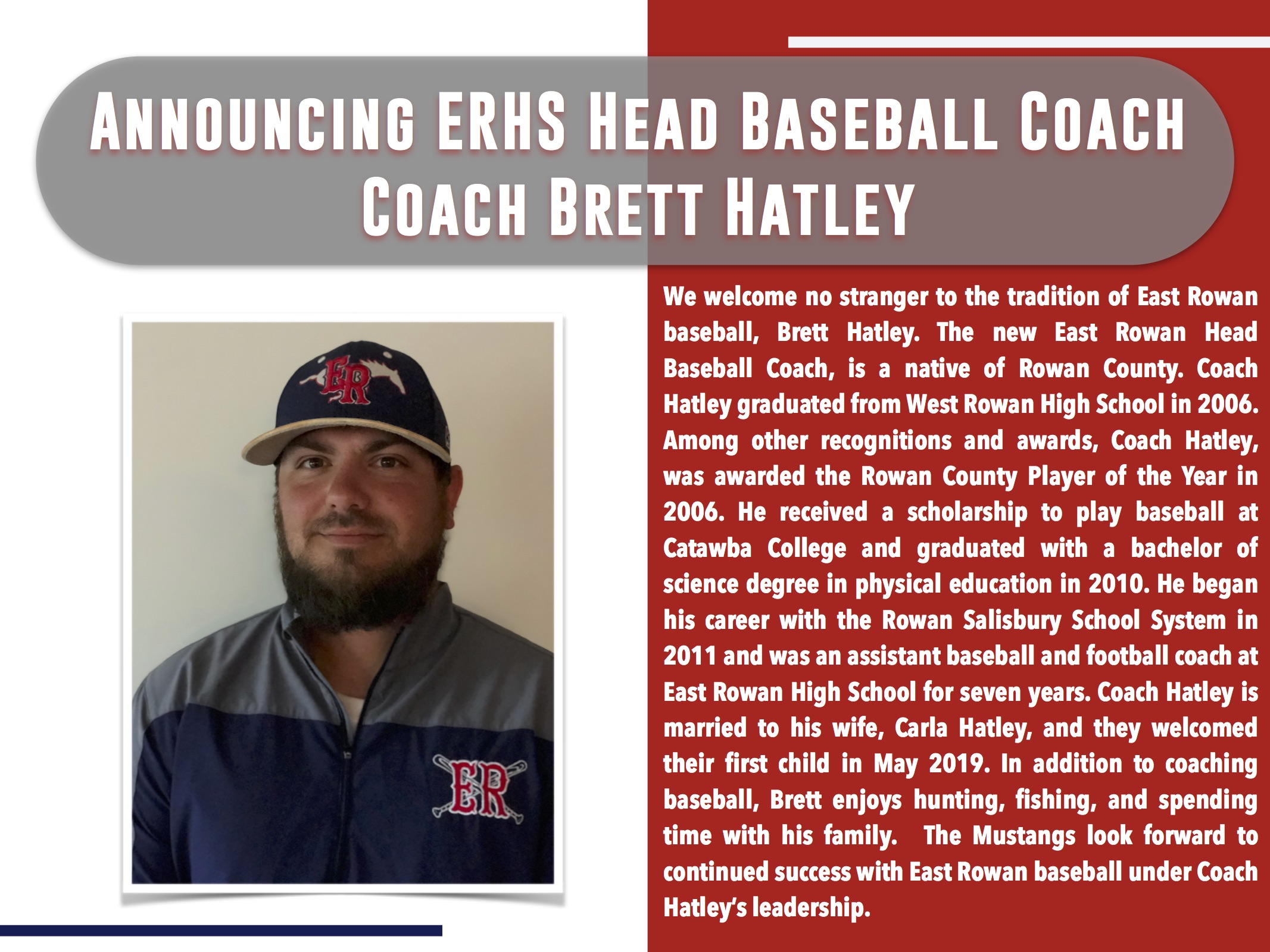 ERHS Head Baseball Coach
