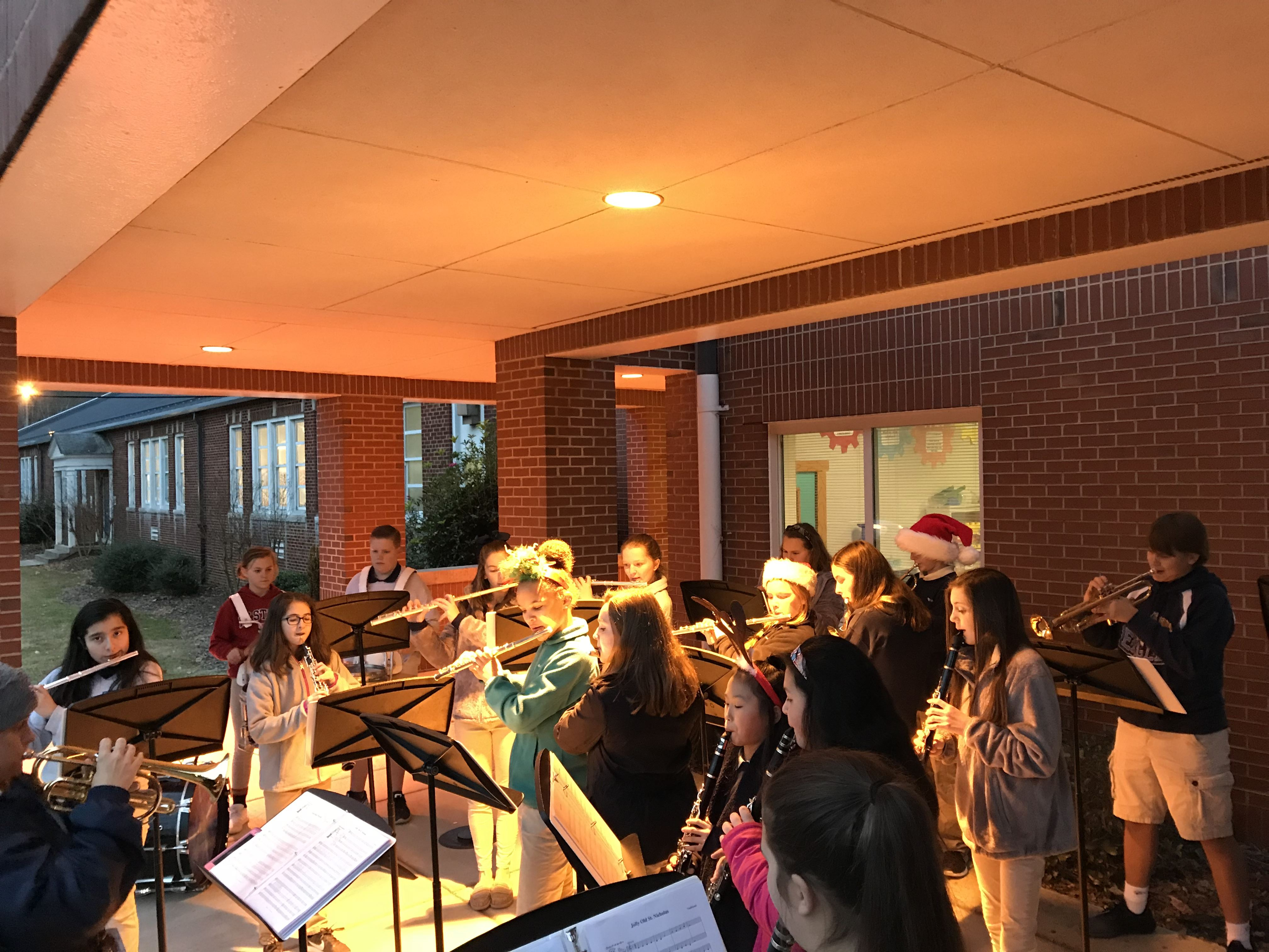 Erwin Middle School Band Visit on December 7