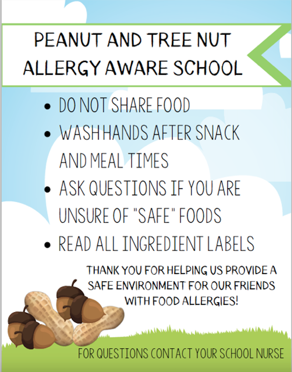 Peanut and Tree Nut Allergy Aware School
