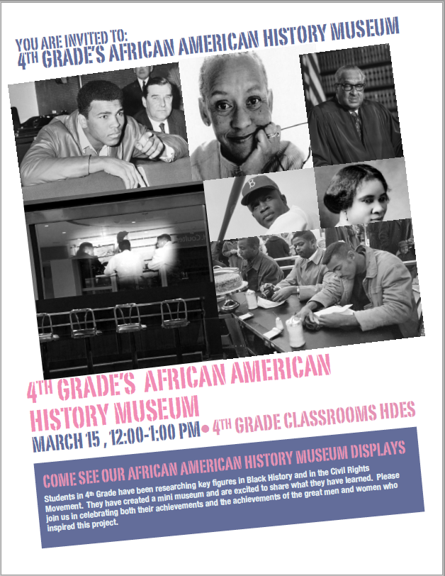 4th Grade's African American History Museum