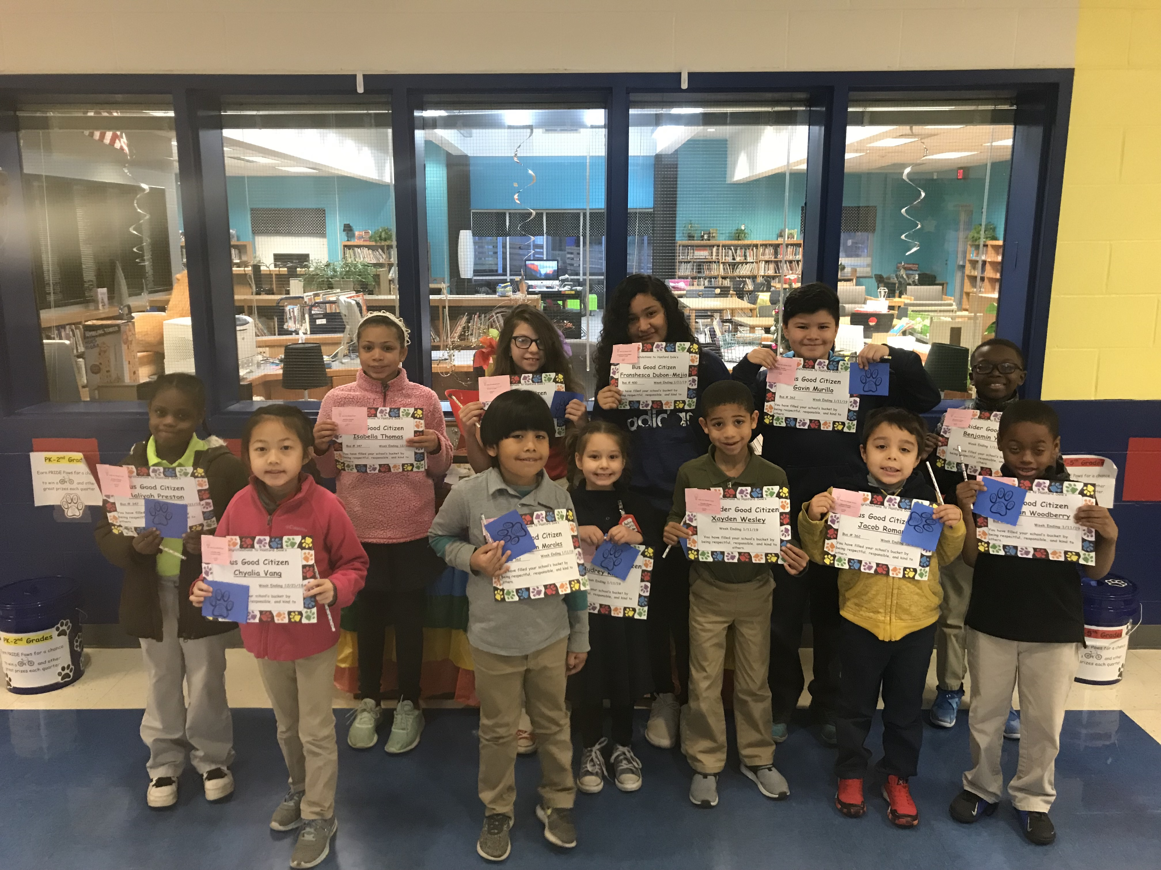 Bus and Car Good Citizens for Week of 1/11/19