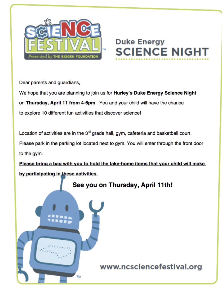 Hurley Duke Energy Science Night
