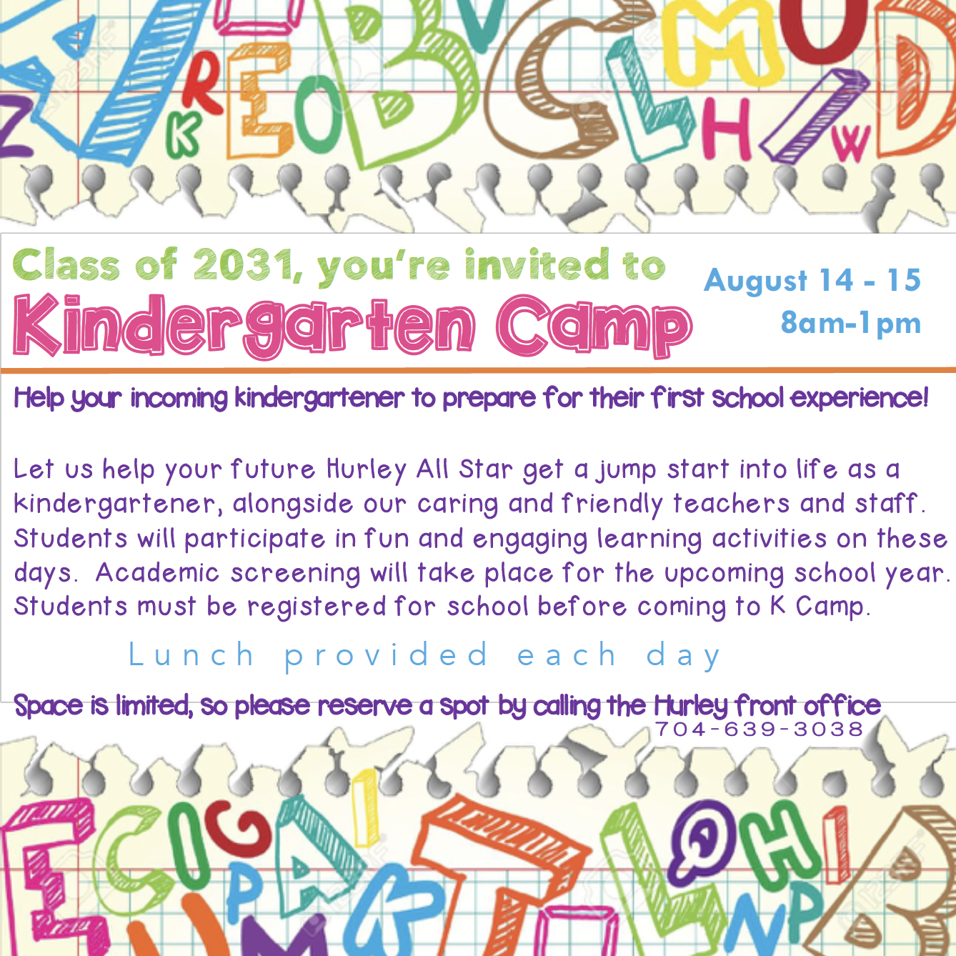 Hurley Kindergarten Camp