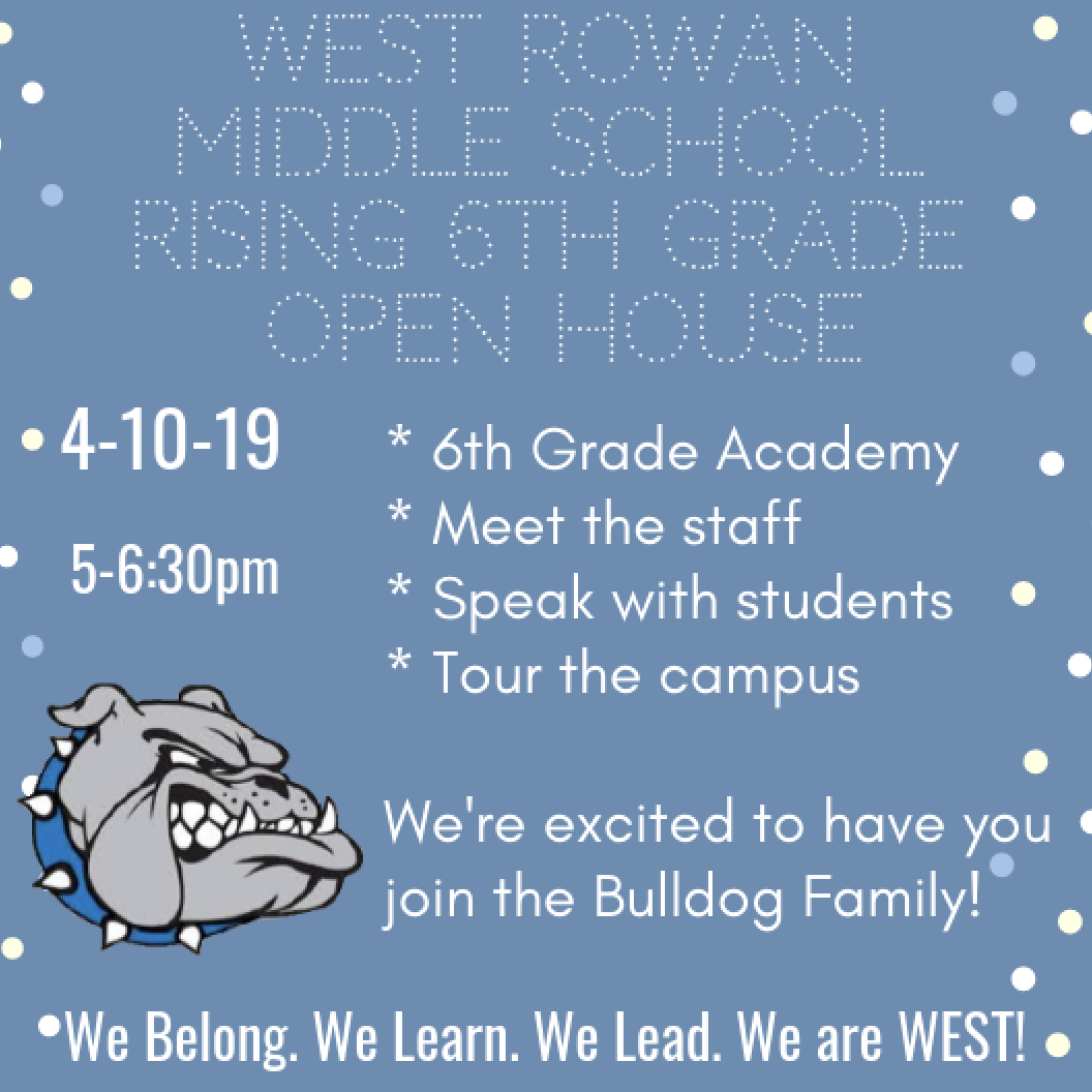 West Rowan Middle School Open House