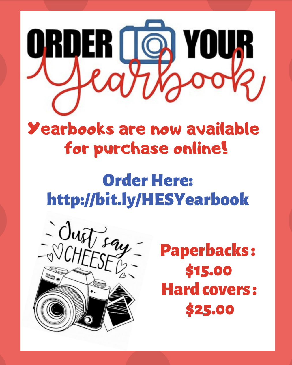 Yearbooks for Sale Now!