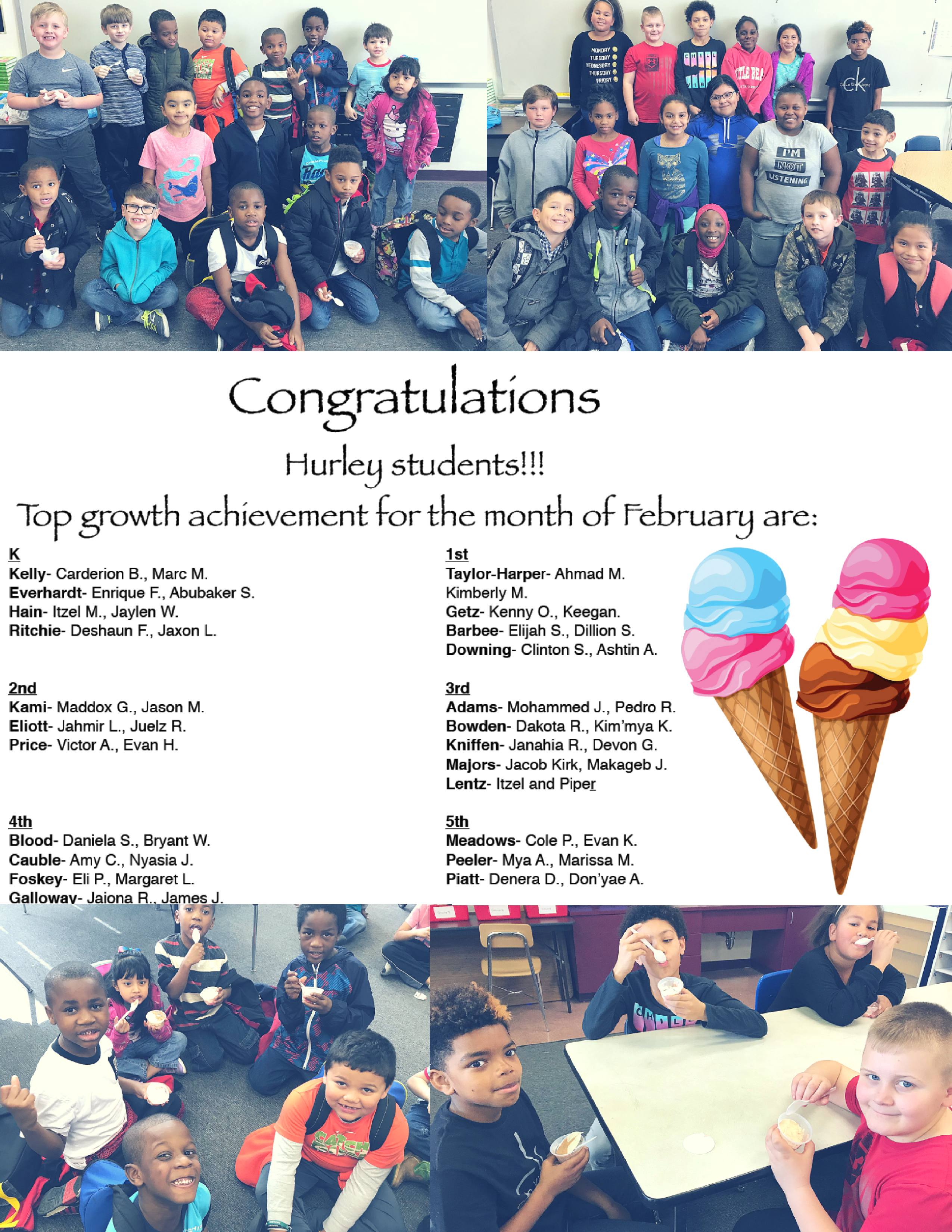 February Ice Cream Winners