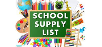 K-2 School Supply List