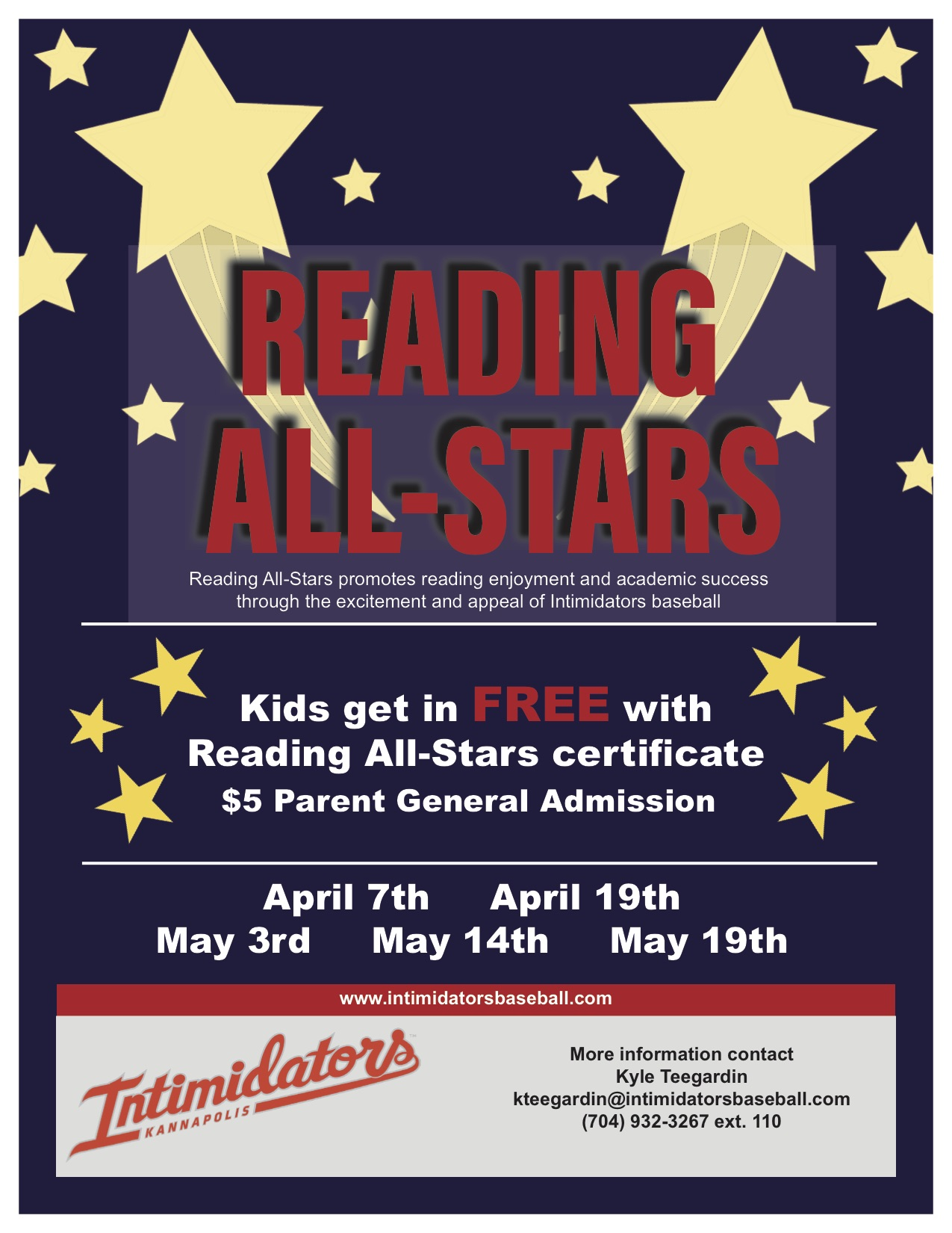 Intimidators Reward Reading and Literacy